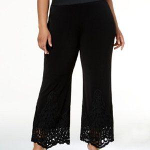 New Alfani Lace Trim Pull On Pants